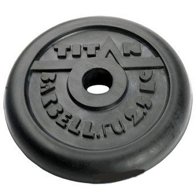 Блин обрезиненный TITAN Barbell 2,5 кг (d26)