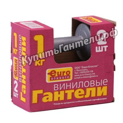 Гантели виниловые 2х1 кг (цена за пару)